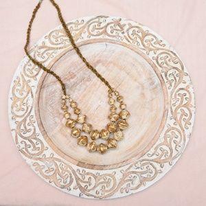 Handmade Designer 31 Bits Gold Tone Necklace